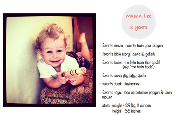 Age profile 2 years